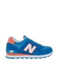 blaue Wildleder niedrige Sneakers von New Balance