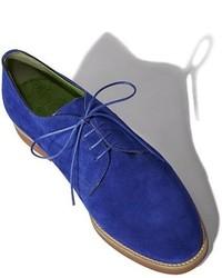 blaue Wildleder Oxford Schuhe
