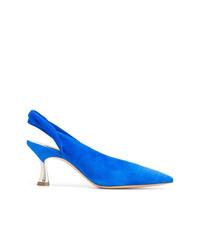 blaue Wildleder Pumps von Casadei