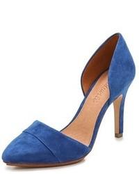 blaue Wildleder Pumps von Madewell