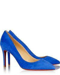 3f625f50eb39ed ... blaue Wildleder Pumps von Christian Louboutin
