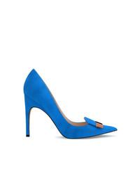 blaue Wildleder Pumps von Sergio Rossi