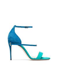 blaue Wildleder Sandaletten von Jennifer Chamandi