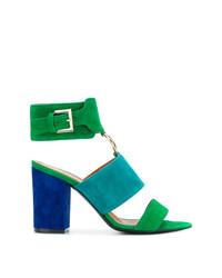 blaue Wildleder Sandaletten von Via Roma 15