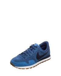 blaue Wildleder Sportschuhe von Nike Sportswear