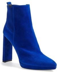 blaue Wildleder Stiefeletten