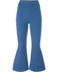 blaue Wollschlaghose von Stella McCartney