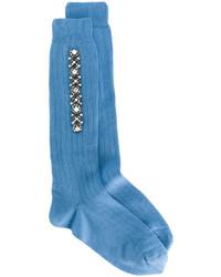 blaue Wollsocken von No.21