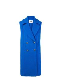 blauer ärmelloser Mantel von MSGM