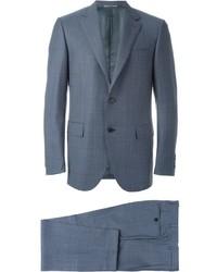 blauer Anzug mit Karomuster