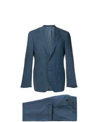 blauer Anzug mit Karomuster von Canali