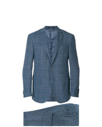 blauer Anzug mit Schottenmuster von Corneliani