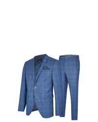 blauer Anzug mit Schottenmuster von Daniel Hechter