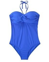 blauer Badeanzug von Mango