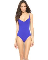 blauer Badeanzug von Proenza Schouler