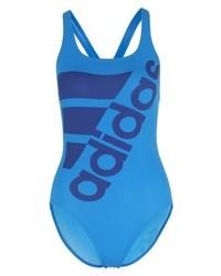 blauer bedruckter Badeanzug von adidas
