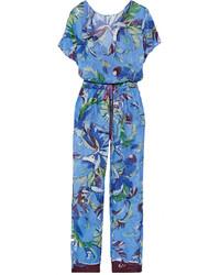 blauer bedruckter Jumpsuit von Emilio Pucci