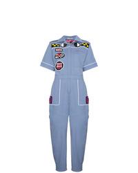 blauer bedruckter Jumpsuit von Miu Miu