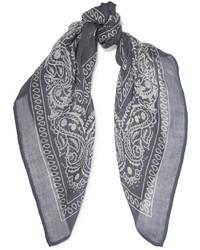 blauer bedruckter leichter Schal von Chan Luu