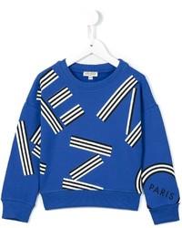 blauer bedruckter Pullover von Kenzo