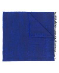 blauer bedruckter Schal von Armani Jeans