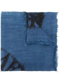 blauer bedruckter Schal von Diesel
