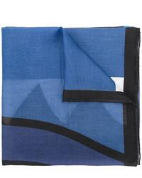 blauer bedruckter Schal von Givenchy