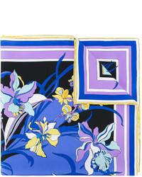 blauer bedruckter Seideschal von Emilio Pucci
