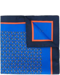 blauer bedruckter Seideschal von Etro