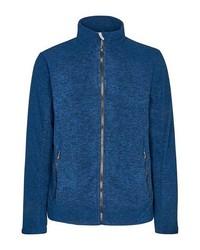 blauer Fleece-Pullover mit einem Reißverschluß von Killtec
