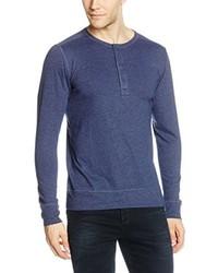 blauer Henley-Pullover von Esprit