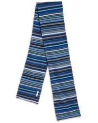 blauer horizontal gestreifter Schal