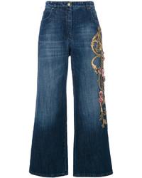 blauer Hosenrock aus Jeans von Alberta Ferretti