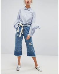 blauer Hosenrock aus Jeans von Current Air