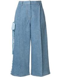 blauer Hosenrock aus Jeans von Fendi