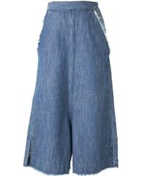 blauer Hosenrock aus Jeans von Miharayasuhiro
