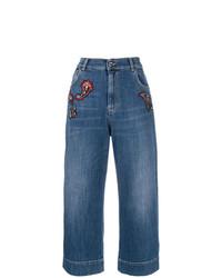 blauer Hosenrock aus Jeans von Pinko