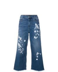 blauer Hosenrock aus Jeans von RED Valentino