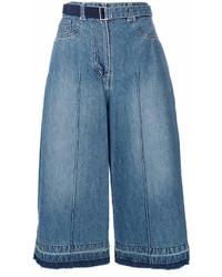 blauer Hosenrock aus Jeans von Sacai