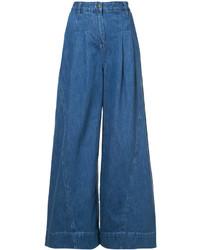 blauer Hosenrock aus Jeans von Ulla Johnson