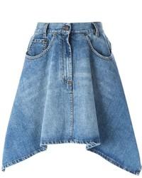 blauer Jeans A-Linienrock von Moschino