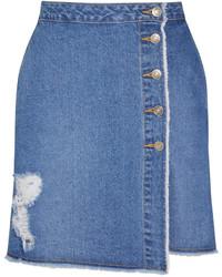 Blauer Jeans A-Linienrock von SteveJ & YoniP