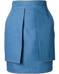 blauer Jeans Bleistiftrock