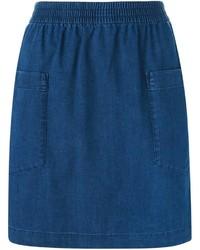 blauer Jeans Bleistiftrock von A.P.C.