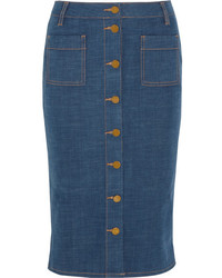 blauer Jeans Bleistiftrock von Tory Burch