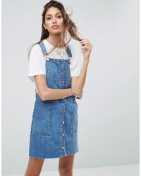 blauer Jeans Kleiderrock von Asos