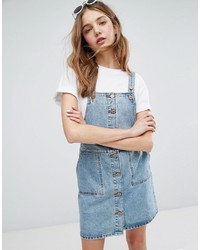blauer Jeans Kleiderrock von Monki