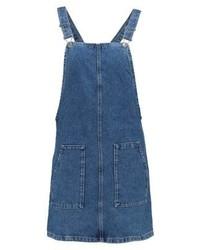 blauer Jeans Kleiderrock von Topshop