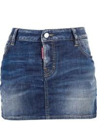 blauer Jeans Minirock