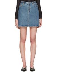 blauer Jeans Minirock von A.P.C.